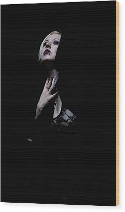 Wood Print featuring the photograph The Dark Witch by Mez