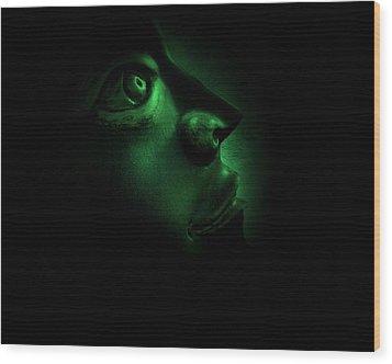The Darkest Hour Cyan Wood Print by David Dehner