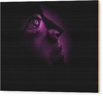 The Darkest Hour - Magenta Wood Print by David Dehner