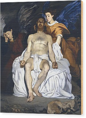 The Dead Christ With Angels Wood Print by Edouard Manet