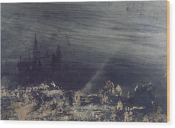 The Dead City Wood Print by Victor Hugo