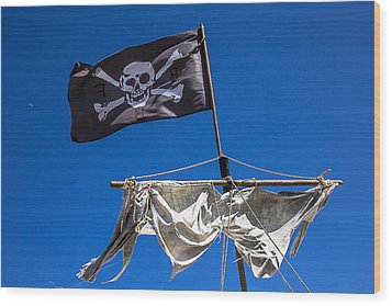 The Death Flag Wood Print by Garry Gay