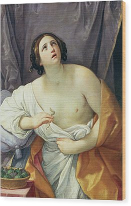 The Death Of Cleopatra Wood Print by Guido Reni
