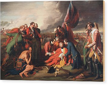 The Death Of General Wolfe Wood Print by Benjamin West