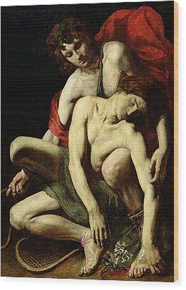 The Death Of Hyacinthus  Wood Print by Italian School