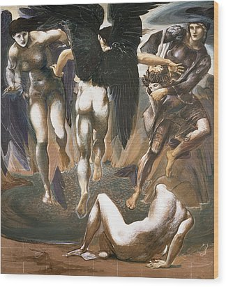 The Death Of Medusa II, 1882 Wood Print by Sir Edward Coley Burne-Jones