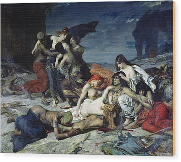 The Death Of Ravana Wood Print by Fernand Cormon