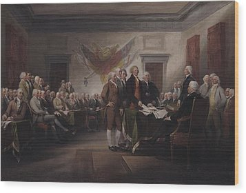 The Declaration Of Independence, July 4, 1776 Wood Print