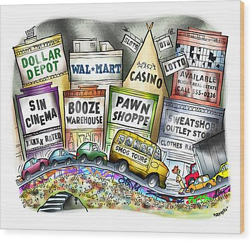 The Delights Of Modern Civilization Wood Print by Mark Armstrong