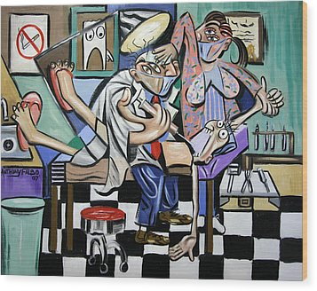 The Dentist Is In Wood Print by Anthony Falbo