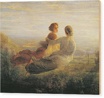 The Departure Of The Soul Wood Print by Louis Janmot