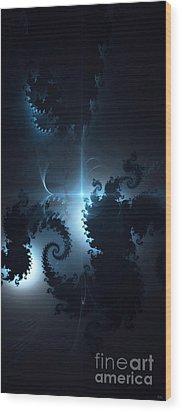 Wood Print featuring the digital art The Depths 2 by Arlene Sundby