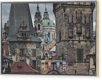 The Depths Of Prague Wood Print by Joan Carroll