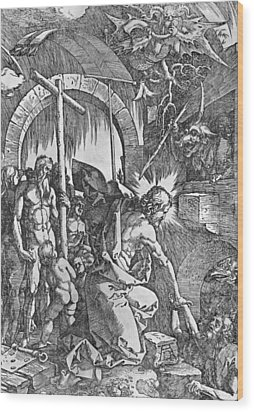 The Descent Of Christ Into Limbo Wood Print by Albrecht Duerer
