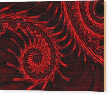 The Descent Wood Print