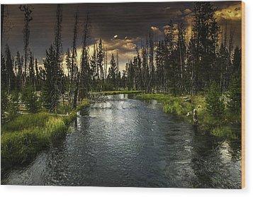The Deschutes River Wood Print