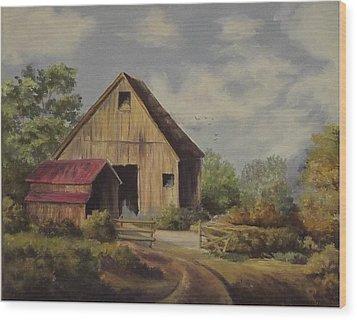 The Deserted Barn Wood Print by Wanda Dansereau