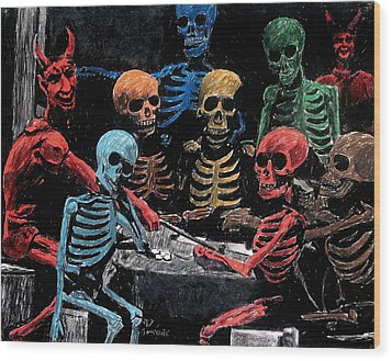 The Devil And Friends Wood Print by Jeremy Moore
