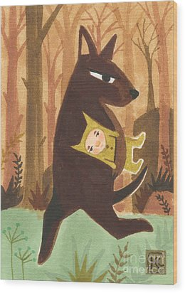 The Dingo Stole My Baby Wood Print by Kate Cosgrove