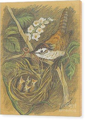 Wood Print featuring the drawing The Dinner Bill by Carol Wisniewski
