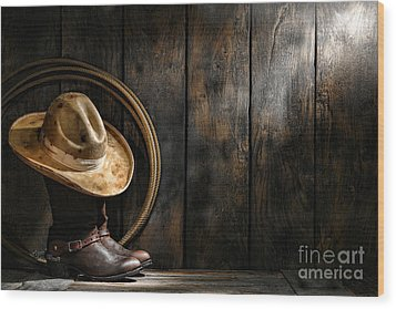 The Dirty Hat Wood Print by Olivier Le Queinec