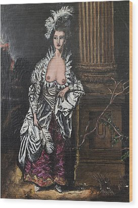 The Dishonorable Mrs. Graham Wood Print by Christopher Winkler