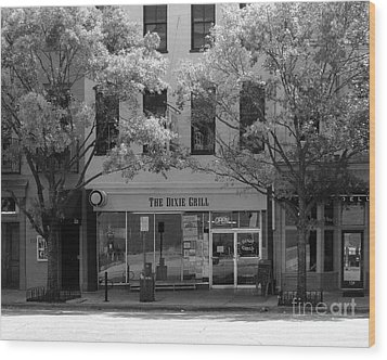 The Dixie Grill Wood Print by Bob Sample