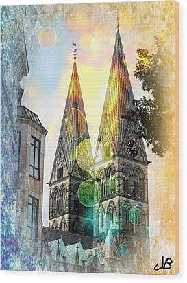 Wood Print featuring the photograph The Dom  by Nico Bielow