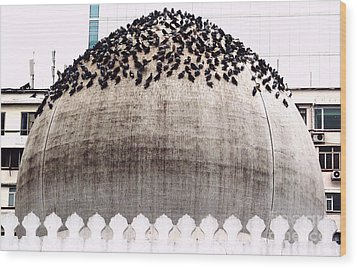 The Dome Of The Mosque Wood Print by Ethna Gillespie