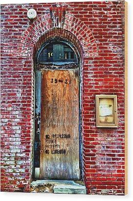 The Door Wood Print