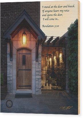 The Door Wood Print by Shane Garrett