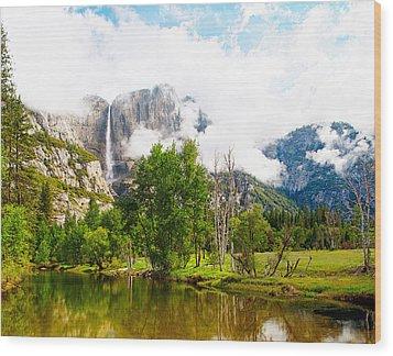 The Door To Heaven Above Yosemite National Park Wood Print