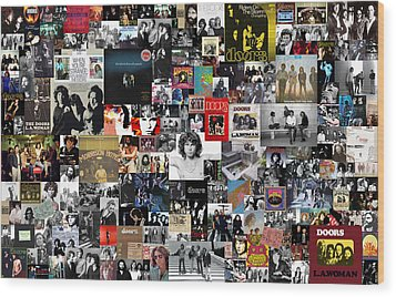 The Doors Collage Wood Print