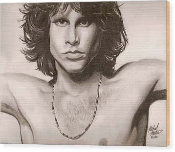 The Doors Wood Print by Michael Mestas