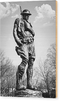 The Doughboy - Tribute To The American Expeditionary Forces Of World War 1 Wood Print by Gary Heller