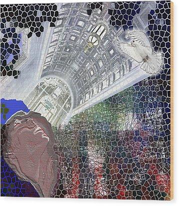 The Dove Wood Print by Maria Jesus Hernandez