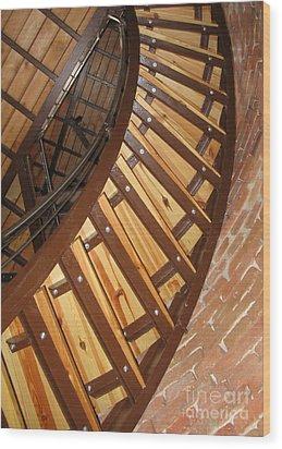 The Downside Of Spiral Stairs Wood Print by Ausra Huntington nee Paulauskaite