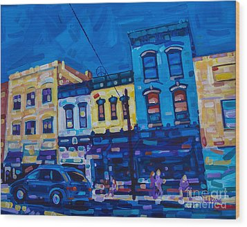 The Downtown Wood Print by Michael Ciccotello