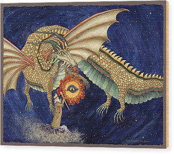 The Dragon King Wood Print by Lynda Hoffman-Snodgrass