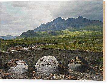 The Dramatic Isle Of Skye Wood Print by Jacqi Elmslie