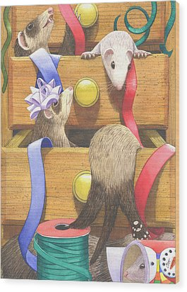 The Drawers Wood Print by Catherine G McElroy