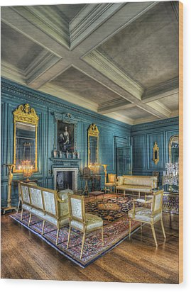 The Drawing Room Wood Print by Ian Mitchell