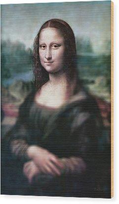 The Dream Of The Mona Lisa Wood Print by David Bridburg