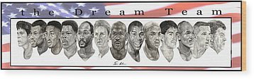 the Dream Team Wood Print