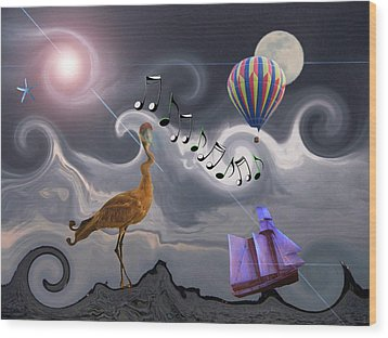 The Dream Voyage - Mad World Series Wood Print