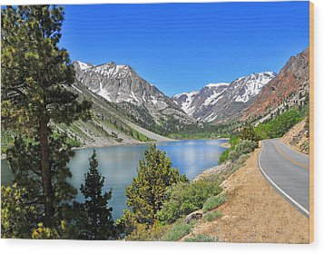 The Drive By Lundy Lake Wood Print by Lynn Bauer