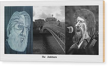 The Dubliners Wood Print by Colin O neill