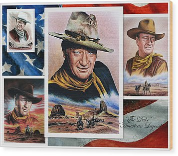 The Duke American Legend Wood Print by Andrew Read