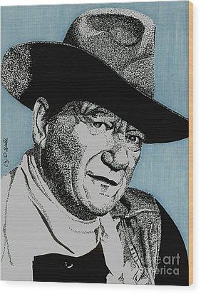 The Duke Wood Print by Cory Still