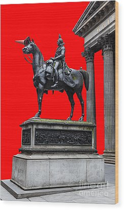 The Duke Of Wellington Red Wood Print by John Farnan